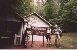 Setting off on a previous hike along the Foothills Trail (me, far right) - circa June, 1998