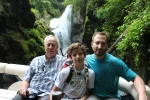 Fran, Ashten and Grant in front of Laurel Falls